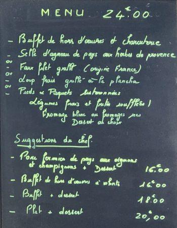 menu les chenes ristorante