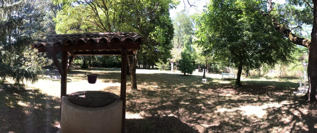 il parco con querce secolari